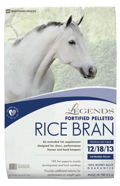 southern states Legends rice bran fortified pelleted